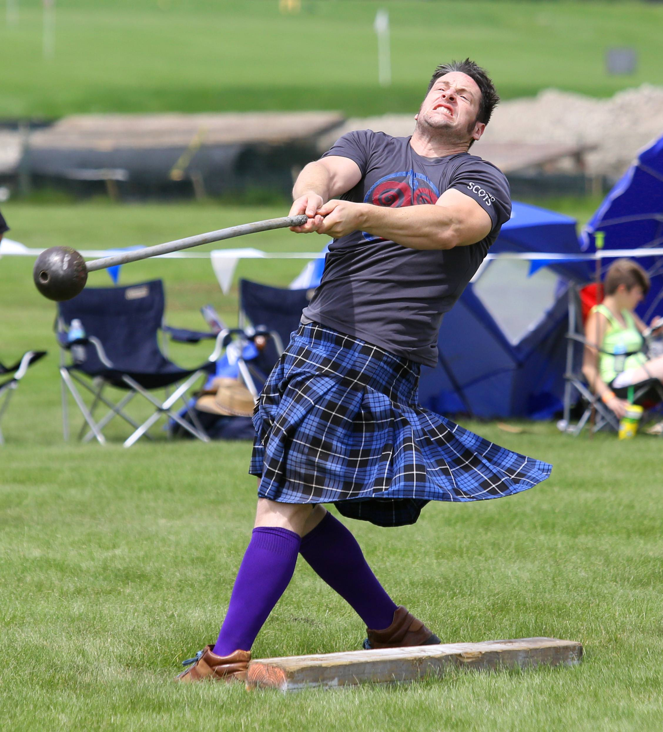 Athletes experienced with the hammer toss and other Scottish Heavyweight Athletics can take part in contests on Friday, while Saturday's competitions feature invited athletes.